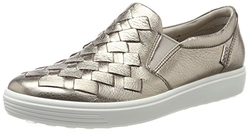affordable ECCO Women's Soft 7 Slip Fashion Sneaker, Warm Grey Woven, 38 EU/7-7.5 M US