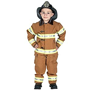 Jr. Fire Fighter Suit with embroidered Cap - 41mapJix8sL - Jr. Fire Fighter Suit with Embroidered Cap