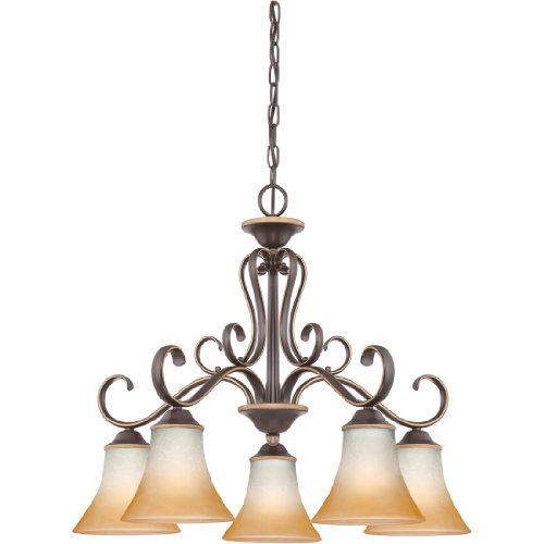 (Quoizel DH5105PN Duchess European Downlight Chandelier, 5-Light, 500 Watts, Palladian Bronze (21