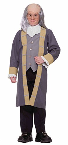 Forum Novelties Kids Ben Franklin Costume, X-Large - Benjamin Franklin Halloween Costume
