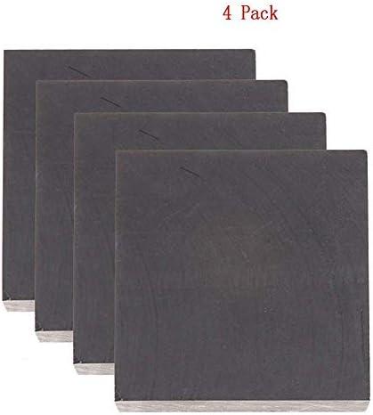 SOFIALXC Graphitplatte Graphitblock mit 99,9% Reinheit, mit hoher Reinheit Dichte, Zähigkeit EDM Graphitplattenfräsoberfläche 50x50x20mm 4Pack
