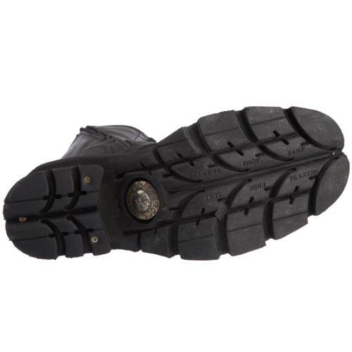New Schwarz Herren s1 Schwarz Rock Stiefel 236 rqFaYrT