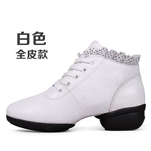 Blanc Wuyulunbi@ Avec des chaussures de danse Chaussures de danse de plancher Trente-six