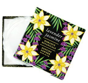 Greenwich Bay LAVENDER JASMINE Dusting Powder with Puff, Romance Botanicals 4 oz by ZM Modern Design (Image #1)
