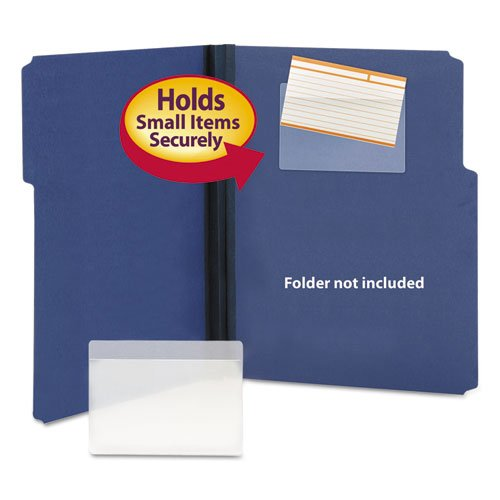 Self-Adhesive Poly Pockets, Top Load, 5-5/16 x 3-5/8, Clear, 100/Box, Sold as 1 Box, 100 Each per Box
