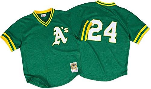Rickey Henderson Oakland Athletics MLB Mitchell & Ness Authentic 1991 BP Jersey