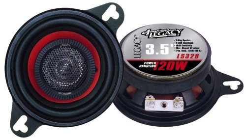 Car Two Way Speaker System - Pro 3.5 Inch 120 Watt 4 Ohm Mid Tweeter Woofer Component Audio Sound Speakers For Car Stereo w/ 20 Oz Magnet Structure, 2.125