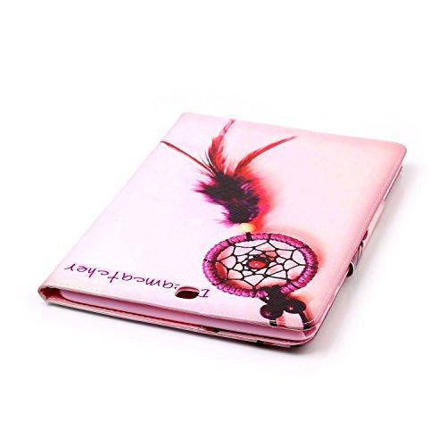 Ukayfe Flip funda de cuero PU para Samsung Galaxy Tab A 9.7 T550, Leather Wallet Case Cover Skin Shell Carcasa Funda para Samsung Galaxy Tab A 9.7 T550 con Pintado Patrón Diseño, Cubierta de la caja F Atrapasueños