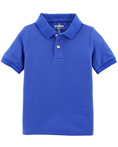Royal Blue Toddler T-shirt - Osh Kosh Boys' Short Sleeve Uniform Polo, Royal Blue, 2T