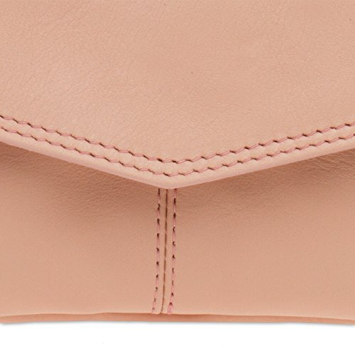 CASPAR CASPAR Evening TA322 Womens Womens Leather TA322 Napa Napa Clutch Pink dnnT8