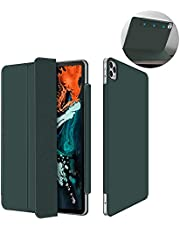 """Rebound Magnetic Smart Case Compatible with IPad Pro 12.9"""" /11"""" 2020, Convenient Magnetic Attachment [Supports Pencil Pairing & Charging] Smart Case Cover (12.9inch, Dark Green)"""