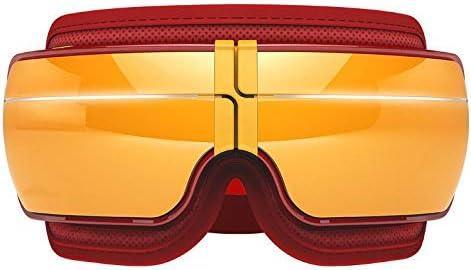 スマートなBluetooth音楽目のマッサージャーの疲れた目のための反しわの目のマッサージ熱くするゴーグルの暗い円は目の心配機械、赤を取除きます