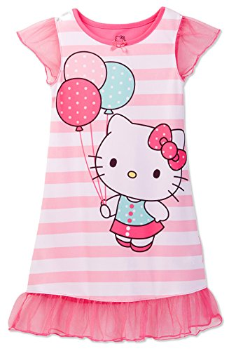 - Hello Kitty Toddler Girls' Pink Striped Dorm Nightgown, Pink, 4T