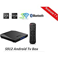 M92S Amlogic S912 Octa Core Android 7.1 TV BOX 2GB 16GB work fast 2.4G/5.0G Dual WIFI WLAN 100/1000M Google Play TV Receiver