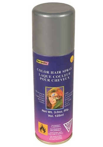 Rubie's Costume Co Silver Color Hairspray Costume 3 ounce (Grey Hair Spray)