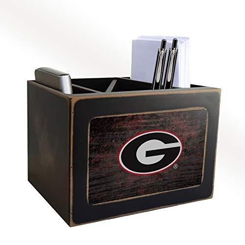 Georgia Bulldogs Desktop Organizer - Fan Creations NCAA Georgia Bulldogs Distressed Team Logo Desktop Organizer with Color
