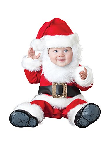 COSKING Baby Infant Costume, Deluxe Cute Toddler Christmas Theme Cosplay Photography Prop Outfit (Tag Size 90, Santa Claus) -