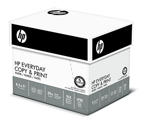 HP Printer Paper, Copy and Print20, 8.5 x 11, Letter, 20lb, 92 Bright, 2,500 Sheets/5 Ream Carton (200350C) Made In The USA