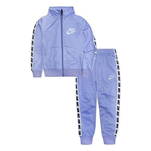 Nike Baby Girls Tricot Track Suit 2-Piece Outfit Set, Twilight Pulse, 9M -