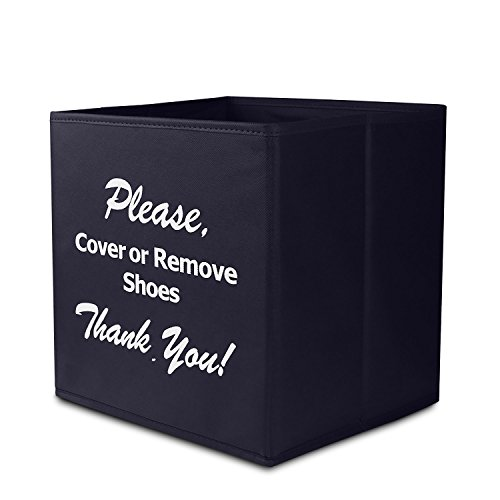 Shoe Covers Box, Opret Foldable Shoe Covers Holder Bootie Box Disposable Shoe Covers Box for Realtors and Open House(Black) by Opret