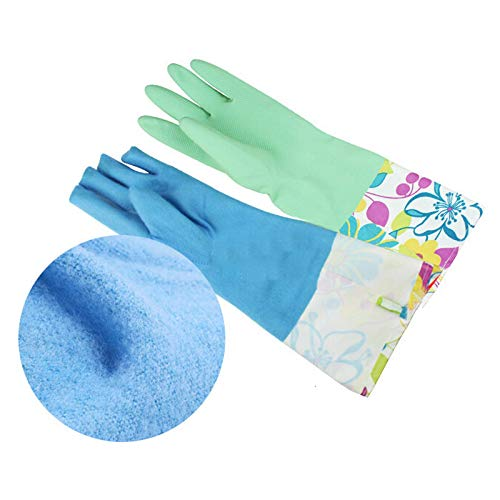 Belloc 50cm Rubber Gloves Latex Cleaning Waterproof Anti-freeze Kitchen Cleaning Gloves Household Waterproof Dishwashing Living from Belloc Home & Garden