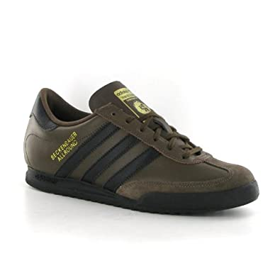 2ce810bd9 Adidas Beckenbauer Brown Leather Mens Trainers Size 9 UK: Amazon.co ...