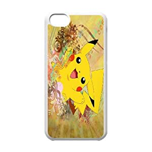 Hot pokemon-pikachu Protect Custom Cover Case for iPhone 5C BQV-38649