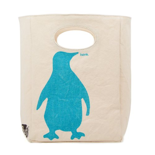 Fluf Organic Cotton Lunch Bag, Penguin