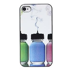 Colored Botella Patrón de nuevo caso para el iPhone 4/4S