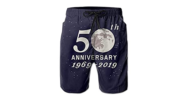 Apollo 11 Moon Landing 50th Anniversary 1969-2019 Mens Swim Trunk