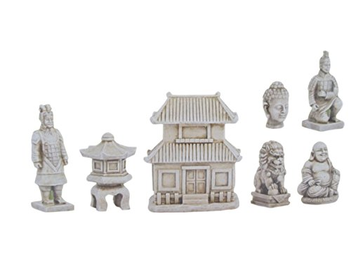 Zen Garden Deck - Once Upon a Garden Peaceful Miniature Zen Garden Set, 7-piece