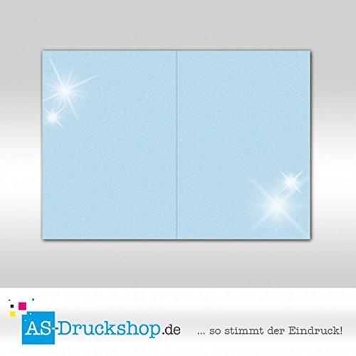 Faltkarte Doppelkarte - - - Wasserblau - mit Perlmutt-Glanz 25 Stück DIN A5 B0794ZJB5K | Speichern  387b8a