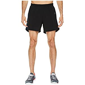 "adidas Men's Running Response Shorts, Black/Blue Night, Large 7"""