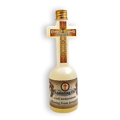 - Spiritual Blessing Anointing Oil 125 ml in Cross Bottle Made in Jerusalem with 100% pure Frankincense, Myrrh and Spikenard