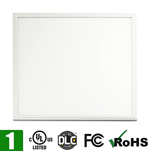 7 Flat Panel (Hall LED Panel Light Square 2x2FT 40Watt Daylight White 5000K Super Bright Ultra Thin Glare-Free Edge-Lit, 0-10v Dimmable, UL-Listed, DLC-Qualified, 5 Years Warranty,)