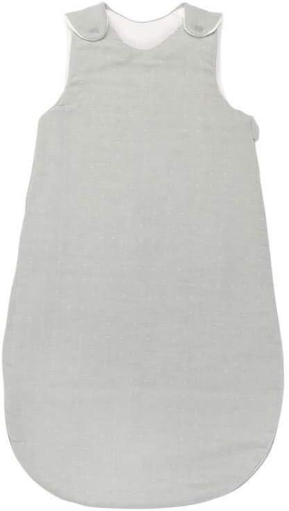 Nattou PURE Gigoteuse 4-saisons 100/% coton avec Fermeture /Éclair et Boutons-Pression 998093 Blanc 70 cm