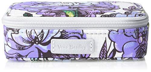 Vera Bradley Iconic Travel Pill Case, Signature Cotton, Lavender Meadow