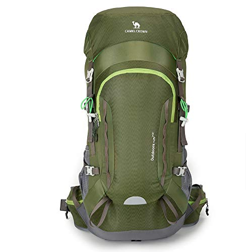 CAMEL CROWN 45L Internal Frame Hiking Backpack Camping Backpacking Backpacks  Travel Daypack Large for Outdoor with e868c8283028b