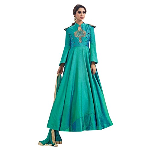 wear party Long donne party wear salwar indowestern suit party cocktail wedding musulmane che pavimento lungo gown il le Richlook dress 2697 tocca che wHTxESOw