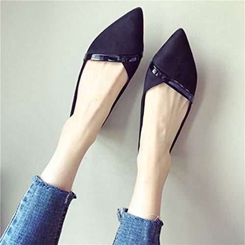 femme décontractées travail de pour noire Chaussures w0C8Iqx