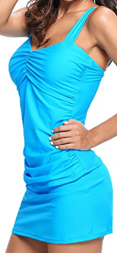 confit you - Tankini - Básico - Sin mangas - 100 DEN - para mujer azul claro
