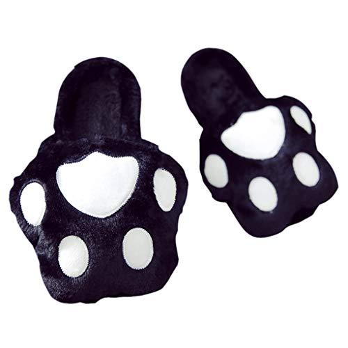 Winter Cute 40 A Antiscivolo Cotone Fondo colore Spesso Home Gray Huyp Nero Ladies Dimensioni Pantofole OnwqtxY