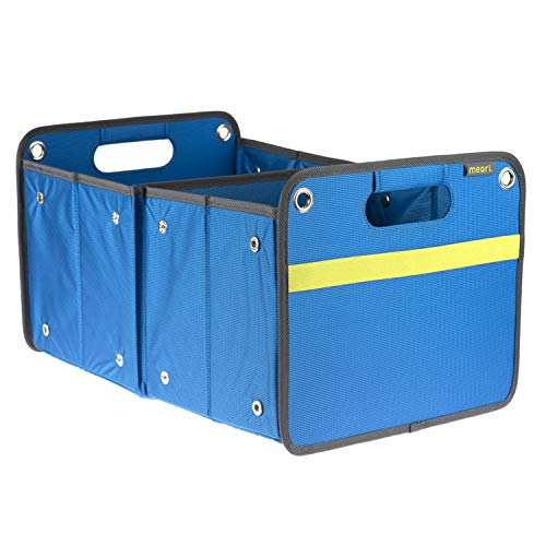 meori A100073 Outdoor Foldable Storage Box, Weatherproof and Adjustable (15 Liter / 4 Gallon or 30 Liter / 8 Gallon), in Mediterranean Blue To Organize and Carry Up To 65lbs