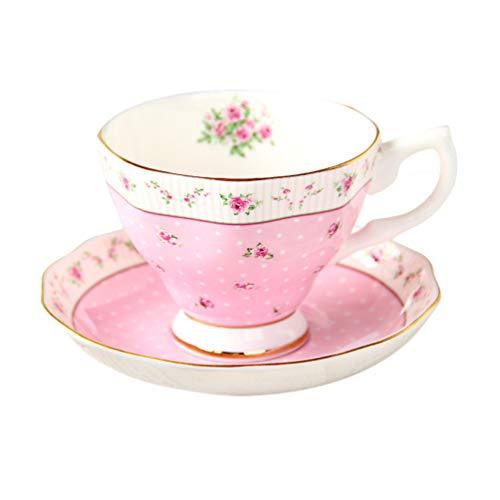 Towashine Floral Bone China Tea Cup and Saucer Set Vintage Royal Style 1 Set