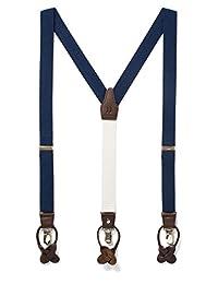 Suspender Premium Y Back para Hombre, con Detalles de piel, Doble Clip Suspenders