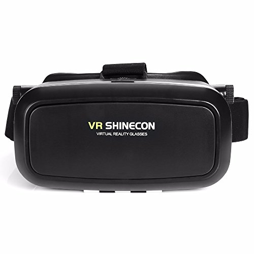 Shinecon VR Virtual Reality 3D Glasses Headset Helmet for 4-6' Smartphone Cardboard Helmet Suitable for Google/iPhone/Samsung Note/LG/Huawei/HTC/Moto Screen