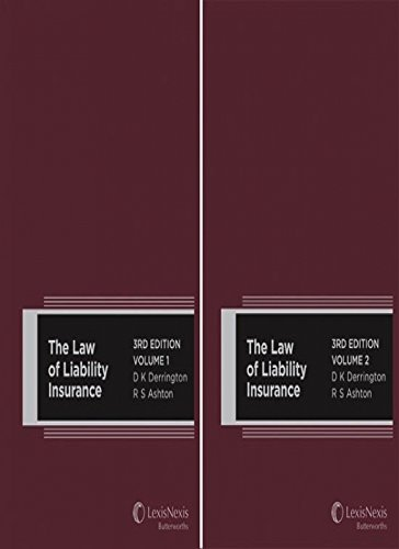 Read Online The Law of Liability Insurance, 3rd Edition - Volumes 1 and 2 pdf