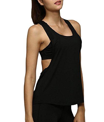 輪郭卒業自発Nicellyer Women Yoga Sports Gym Dance Stretch Breathable Quick Dry Tank Top