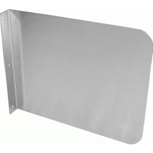 ACE SP-S1712 Wall Mount Stainless Steel Splash Guard for Commercial Restaurant Hand Sink/Compartment Prep Sink, 17