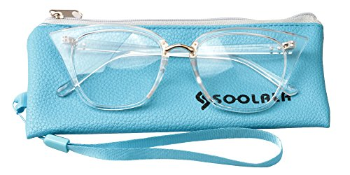fbe57badd3 SOOLALA Womens Quality Readers Stylish Oversized Cat Eye Custom Reading  Glasses